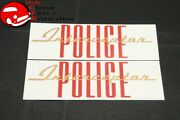 60-66 Ford Police Interceptor Valve Cover Decals Pair Part C3ae-6404-d
