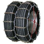 Heavy Duty Square Alloy Dual Cam 11-24.5 Truck Tire Chains
