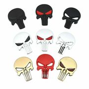 3d Metal Skull Head Car Stickers Emblem Decals For The Punisher Bmw Audi Ford