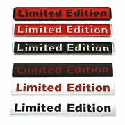 3d Metal Limited Edition Emblem Badge Car Stickers Decal For Bmw Audi Honda Opel