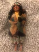 Vintage Native American Indian Skookum Bully Doll 11 Squaw With Papoose