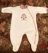 Carters Nwot Infant Baby My First Christmas Holiday Sleeper . Size 0-3 Months