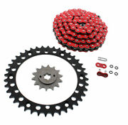 1988-2006 Yamaha Yfs 200 Blaster Red O-ring Chain And Black Sprocket 14/40 92l