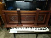 Antique Upright Piano Front Panel For Arts Crafts Refinished Satin Mahogany
