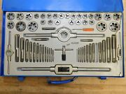 Interstate 8/32 - 1-14 Tap 63pc Npt Unc Unf Tap And Die Set 03959038 Incomplete