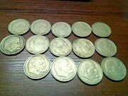 Set Of 14 Pieces Ussr 1 Ruble Commemorative Coin 1970 Lenin 100 Years Birthday