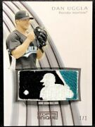 Dan Uggla 2009 Topps Unique Game-used Mlb Logo Silhouette Patch True 1/1