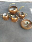 Vintage Solid Copper Coppercraft Guild - Taunton Mass Lot Of Misc Items Used