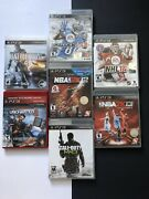 Lot Of 7 Ps3 Games Madden Nfl 13, Nba 2k12, Call Of Duty Mw3, Nhl14, Others