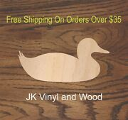 Any Size Duck Swimming Duck Wood Cutout Laser Cut Wood A338