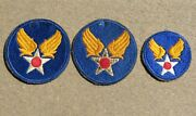 3 Different Ww2 Us Army Military Air Force Headquarters Shoulder Patches