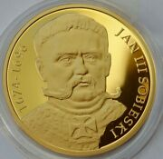 King Sobieski Silver Medal 300 Anniversary Battle Of Vienna 1683 Gold Plated