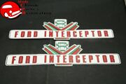 57 58 Ford Police Interceptor Valve Cover Decals Pair