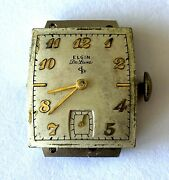 Vintage Elgin Deluxe 558 Usa 17j Watch Movement Dial For Watch Parts Repair