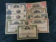 Mixed Lot Of 47 Different Stock Certificates And Bonds Various Industries