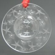 Lalique Constellation 1994 Clear Christmas Ornament Free Ship