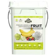 Emergency Survival Food Supply Kit Bucket 4 Gallon Fruit Rations Freeze Dried