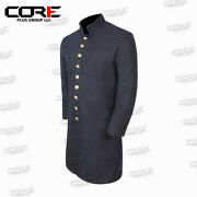 Civil War Union Enlisted Navy Blue Pipping Single Breasted Frock Coat-all Sizes