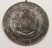 1905 Commemorative Nyc Medal Celebrating The Operation Of Municipal Ferries