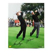 Jack Nicklaus Gary Player Signed Autographed 16x20 Photo Dual With Jack Uda