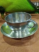 1881 And Co Sterling Executive Cup Saucer 355 Gr Coffee Tea Mg Htf 12.6 Oz