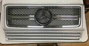 Front Grille Assembly G63 Look Silver For And0391990-and0392013 Mercedes Benz W463 G-class