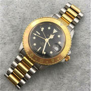 Zodiac Gmt Eye Of Tiger Swiss Menand039s Watch Vintage Collectable From Japan