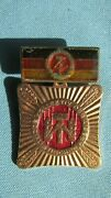 Solid Copper Learn Socialist Work And Live Enamel German Order Pin-