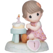 Precious Moments Growing In Grace Age 1 Brunette Girl Figurine 142010b