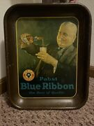 Vintage 1930andrsquos Era Antique Pabst Blue Ribbon Beer Tray