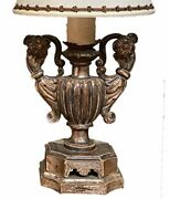 Silver Gilt Pick Candlesticks As Lamps - A Pair