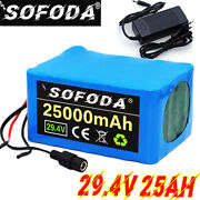 29.4v25ah Li-ion Battery Volt Rechargeable Bicycle 500w Ebike Electric + Charger