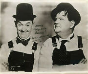 Laurel And Hardy Photo Stan Laurel Signed Photo And Letter Autographed Uacc Rd