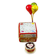 New Rochard Birthday Cake With Ballons And Confetti Limoges Box Authorized Dealer