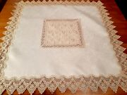 Square 8585cm Traditional Light Bronze-broderie Anglaise Polyester Tablecloth