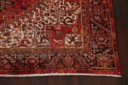 Traditional Geometric Long-wearing Red Heriz Serapi Area Rug Hand-knotted 10x12