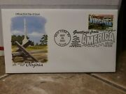 2002 1st Day Issue Stamp And Envelope Virginia Revolutionary War Memorial Yorktown