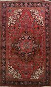 Excellent Vintage Geometric Heriz Area Rug Living Room Wool Hand-knotted 10and039x14and039