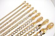 10k Solid Yellow Gold Diamond Cut Cuban 2.5mm - 9.5mm Necklace 16 - 28