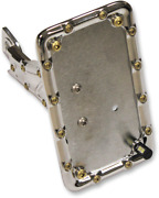 Carl Brouhard Designs Bomber Series Side-mount License Plate Chrome Lp-bsis-c