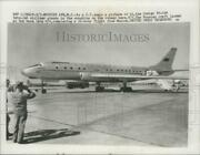 1957 Press Photo Russian Tu-104 Twin-jet Airliner At Mcguire Air Force Base N.j