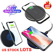 Qi Wireless Fast Charger Charging Pad Dock 10 W For Cell Phone Universal Us Lot