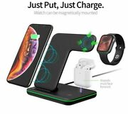 Universal Wireless Charger For Iphone 11 Fast Dock Stand For Watch For Airpods