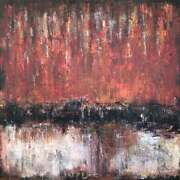60x60 Hand Art Oil Painting Abstract Red Wall Art Canvas Painting Modern Art