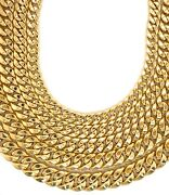 10k Hollow Yellow Gold 3mm - 15mm Miami Cuban Link Chain Necklace 16 - 30