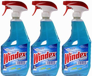 Windex Powerized Glass Cleaner With Ammonia-d, 32 Oz. Trigger Spray Bottle Pack