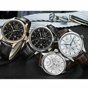 42mm Parnis Miyota 26 Jewels Multifunction Automatic Men's Watch Power Reserve