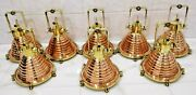 Nautical Vintage Style Cargo Pendent Spot Copper And Brass Ceiling New Light 8 Pcs