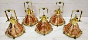 Nautical Vintage Style Cargo Pendent Spot Copper And Brass Ceiling New Light 5 Pcs