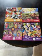 Disney Puzzles 1000 Pieces 4 Pack💥mickey-princess Collage-snow White-lion King